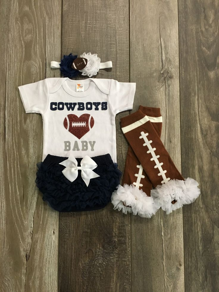 Dallas cowboys baby girl outfit - Dallas cowboys baby - cowboys baby onesie - Cowboys football - football leg warmers - baby gift by Mylittlerascal on Etsy https://www.etsy.com/listing/477927979/dallas-cowboys-baby-girl-outfit-dallas