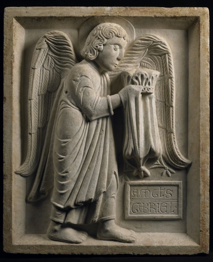 School of Benedetto Antelami  – The Archangel Gabriel, ca. 1210–20, Marble, h. 75 cm  | Princeton University Art Museum