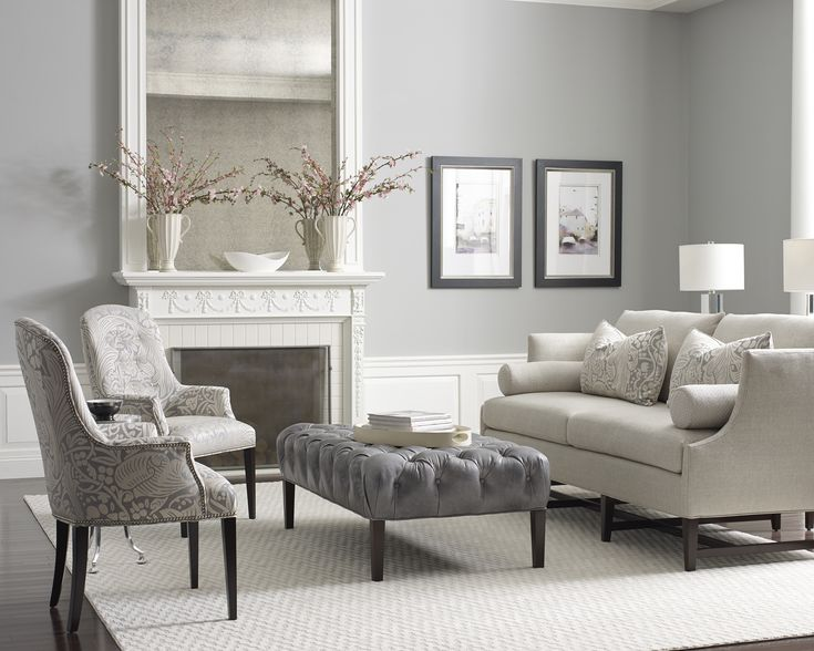 Love the grays and the furniture.