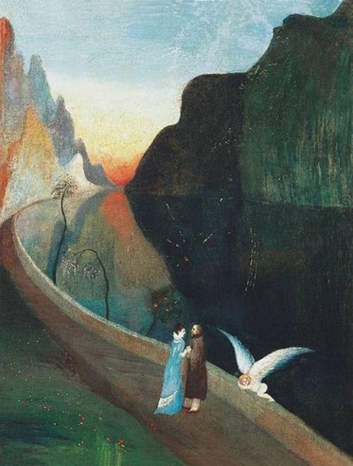 Encounter of Lovers (Rendezvous) - Tivadar Kosztka Csontváry 1902  Hungarian 1853-1919