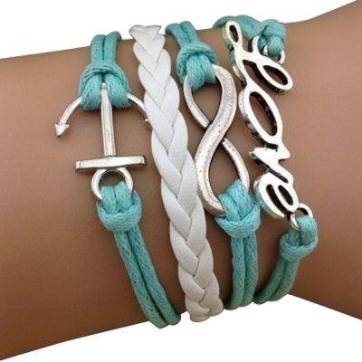 Light Blue Love Arm Party Bracelet