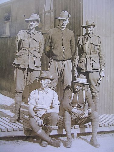 WWI Aussies (ANZAC) Australia and New Zealand Army Corp So many of our young men fought and died as ANZACs, in support of our Allies in every war since the First World War. We celebrate Anzac Day on April 25. We will remember them.