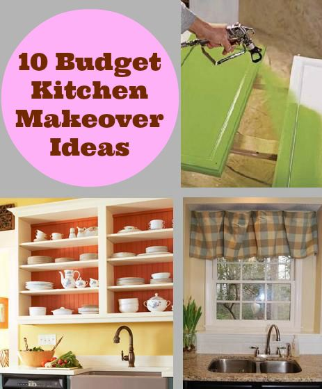 10 cheap kitchen makeover ideas spray paint cabinets - Kitchen decorating ideas on a budget ...