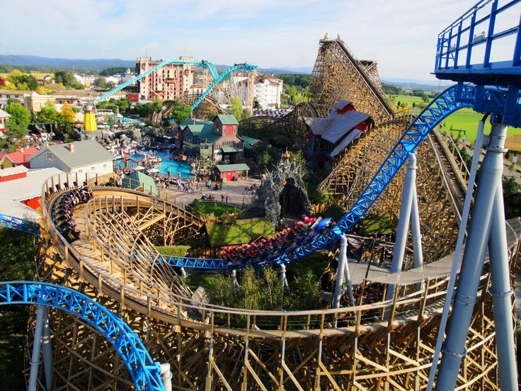 Reaching speeds of 62 mph, Wodan is in the conversation as one of the fastest and tallest wooden coasters in all of Europe. Built with 21,000 boards, it is so massive that it intertwines with 2 other park attractions.