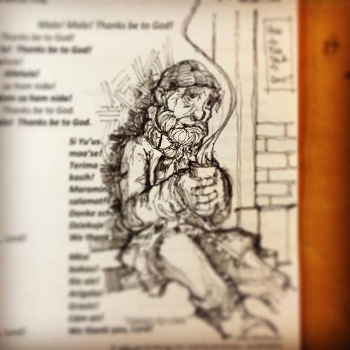This week's #sermon #sketch #illustration focuses more on #Thanksgiving But touches on #publicservant #ink #umc #illustration #methodist @calvary_umc (at Calvary United Methodist Church)