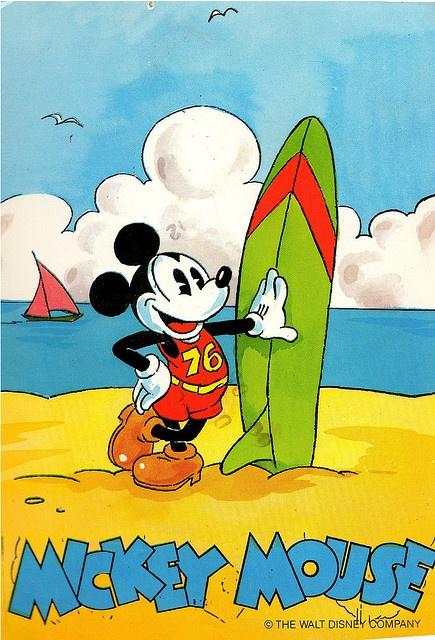 Surfer Mickey