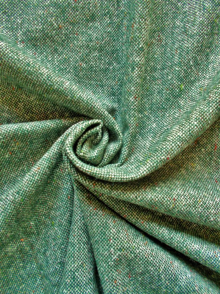 Vintage Woven  Wool Dress Fabric - 1960's / 1970's - Spruce green & natural with multi coloured flecks - 1 piece - Unused by GertieGussetsVintage on Etsy Ooh it's SOLD x