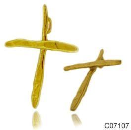 Σταυρός Κ14 από κίτρινο χρυσό. 28x37χιλ. #marizaart #greekart #art #greece