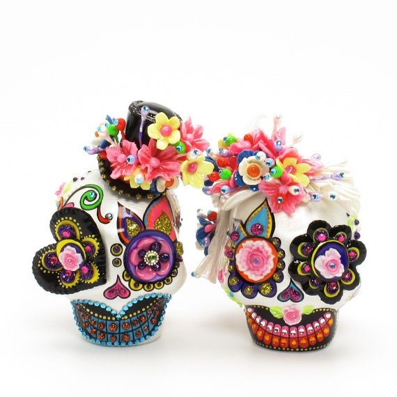 candy skull wedding cake toppers 1000 images about sugar skull faces on skull 12353