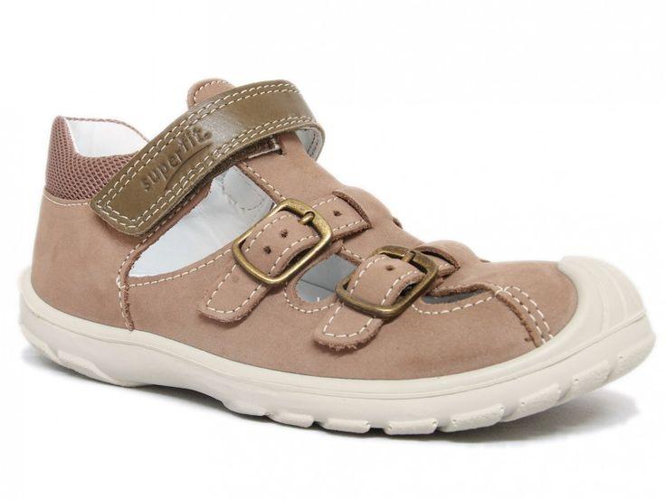 Superfit Softtippo Sandale 430-34 Almond Kombi (Weit)  Kinderschuhe - WMS weit Sandalen