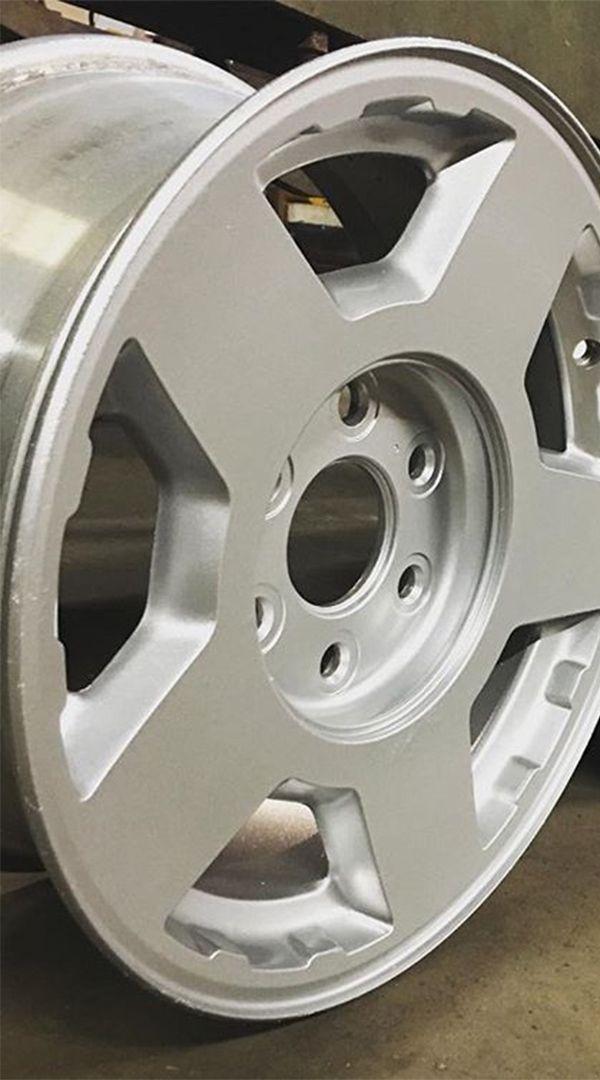 E S Custom Fabrication Restored This Chevrolet Rim Using Our
