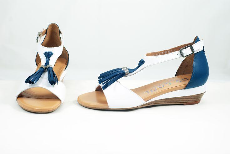 Shopcaster.com | DS Cool Blue Tassel Sandal