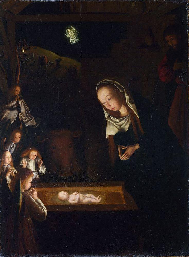 Geertgen tot Sint Jans (1460/1465 – до 1495) Рождество Христово.(Поклонение младенцу) Nativity, 1470