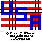 Patriotic Beaded Safety Pin Patterns: USA Pattern