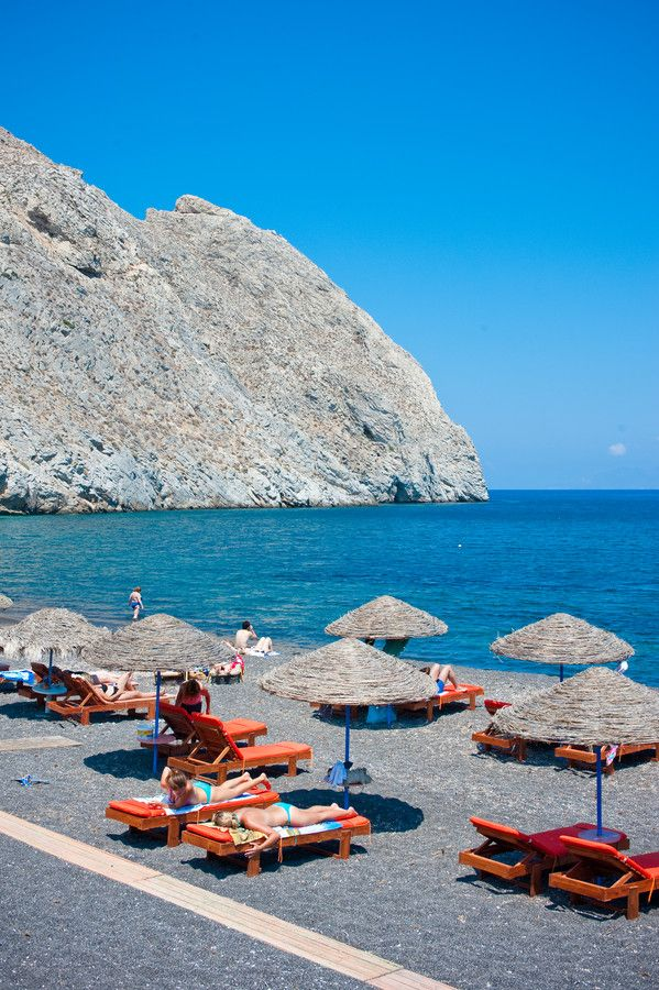 Perivolos Beach, Santorini, Greece