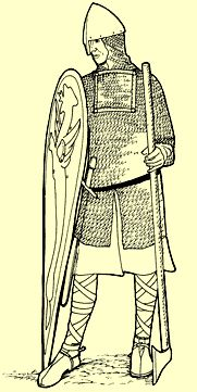 Illustration of a Norman Soldier in chainmail