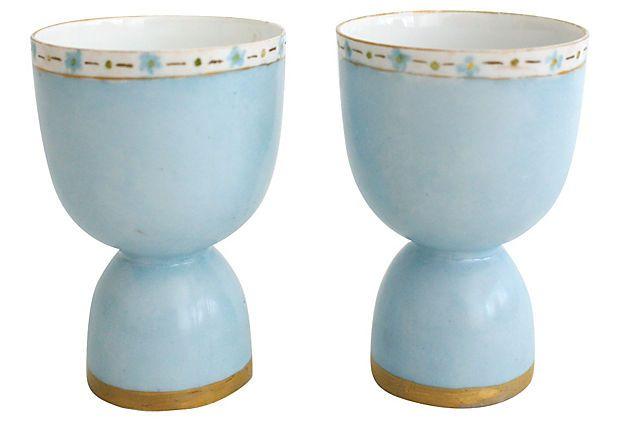 Vintage Bavarian Porcelain Egg Cups