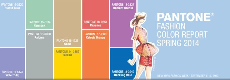 Spring 2014 Pantone Fashion Color Report -  New York Fashion Week color forecasts #FCRS14 #pantone #nyfw