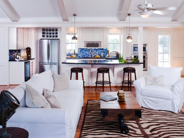 Beachy Sophistication - 20 Coastal-Inspired Living Rooms on HGTV