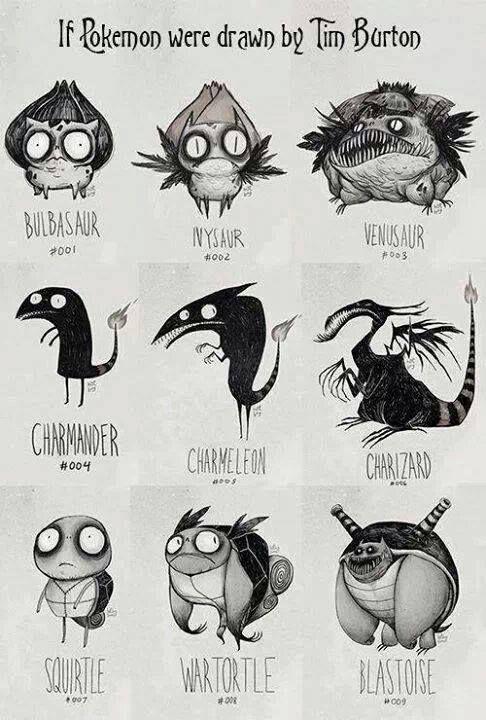 Tim Burton's pokémons
