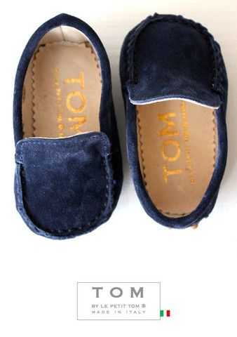 TOM by Le Petit Tom ® MOCCASIN  navy. I don't think it gets any cuter...