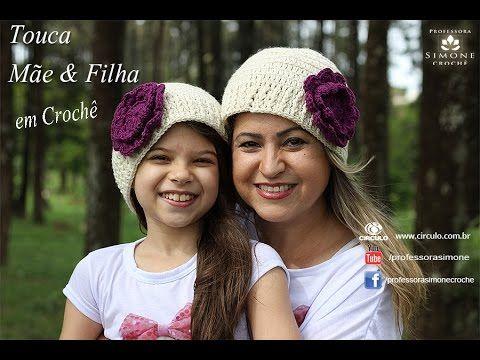 Gorro/Touca de Crochê Mãe e Filha - Professora Simone - YouTube