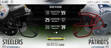 steelers vs patriots live stream NFL Game 2015 online