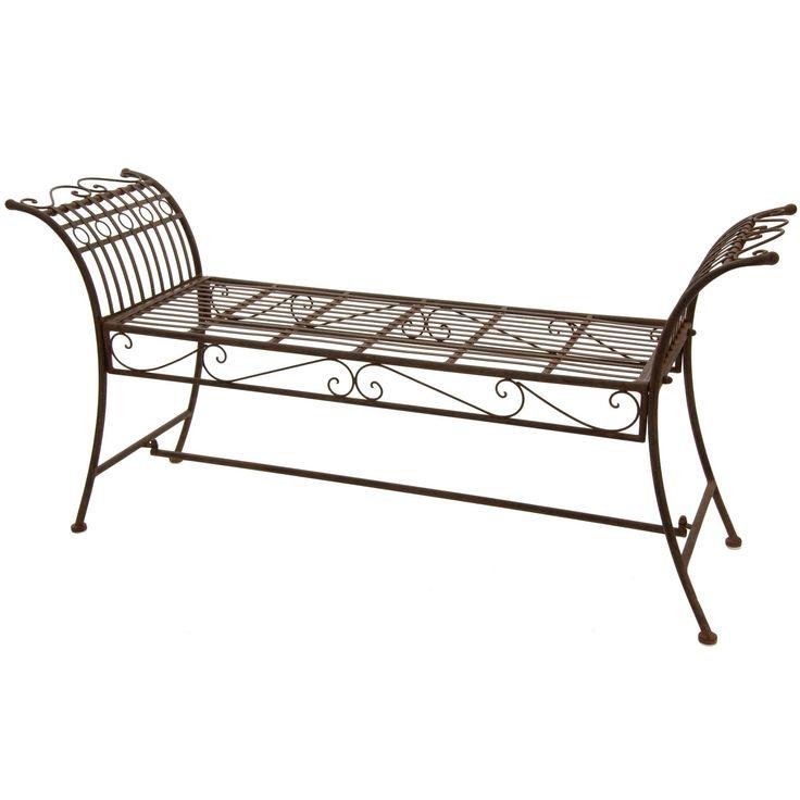 Rustic Iron Garden Bench