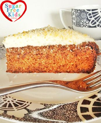 Sugar free, Grain Free, Gluten Free Carrot Cake - the best ever carrot cake recipe!