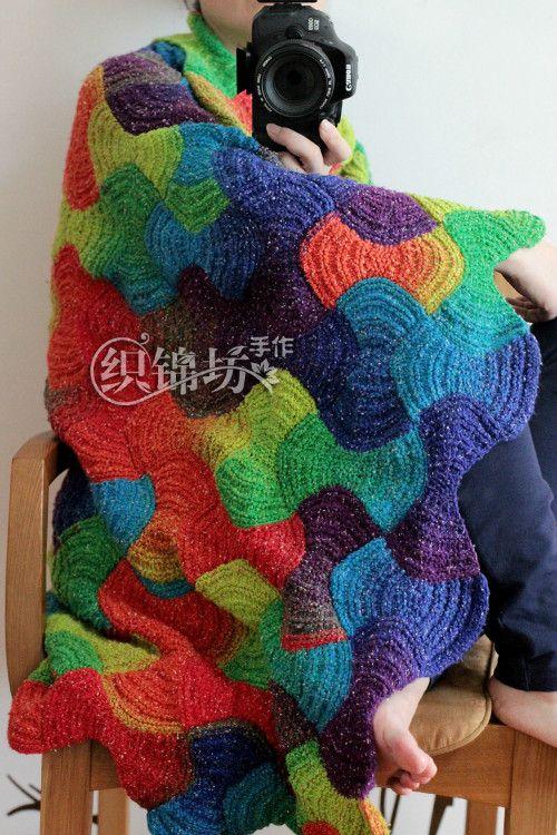 【织锦坊手作】——棉质彩虹线之如意毯 高清图解+视频教程 - yun815 - 织锦坊手作网易博客-----用心感受生活