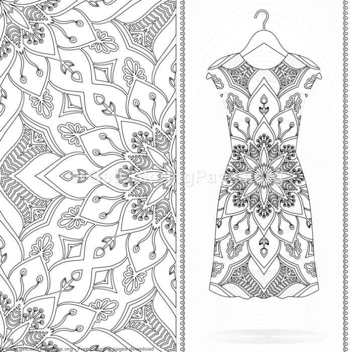 13 Mandala Pattern Dress Coloring Pages Getcoloringpages Org Coloring Coloringbook Coloringpages Co Coloring Pages Mandala Pattern Mandala Coloring Pages
