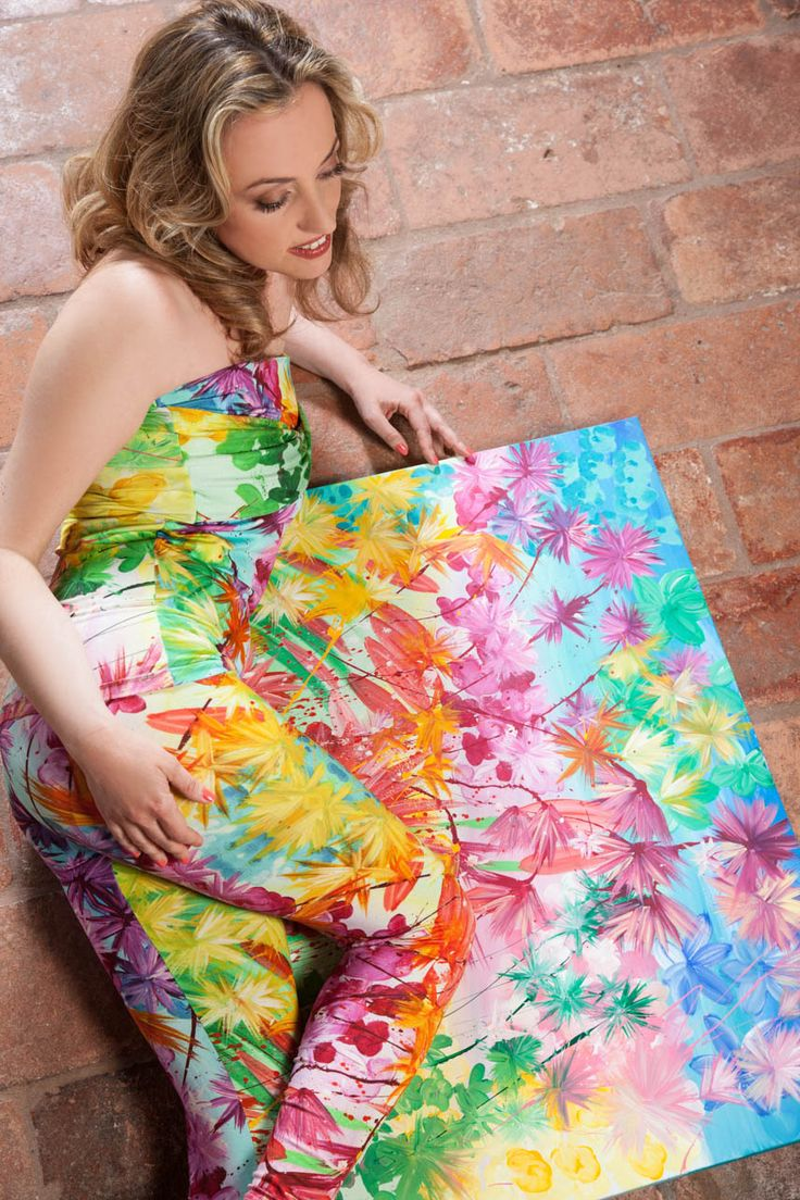 """Allegra di Cuore - Dress """"Arcobaleno"""" and the paintings from which it's inspired"""
