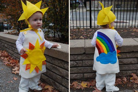 Sunshine and Rainbow Halloween free costume pattern for babies, toddlers and kids