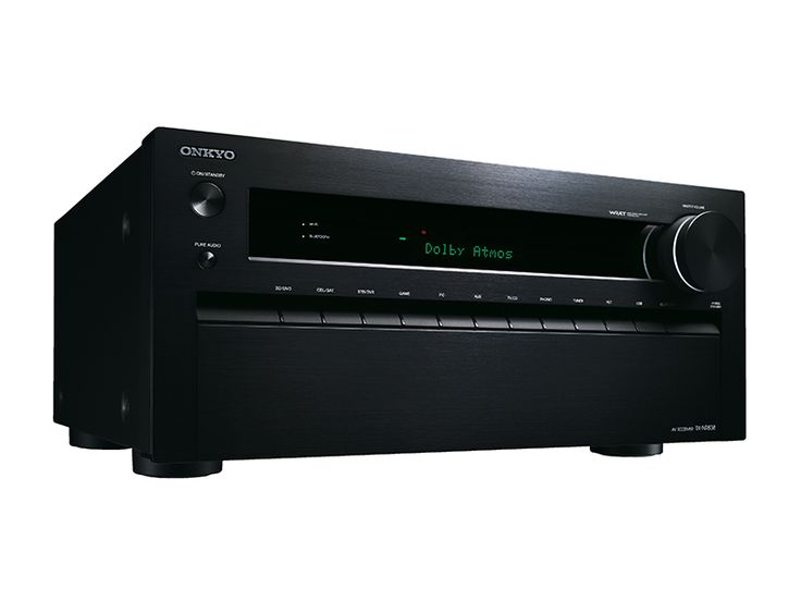 Onkyo TX-NR737 7.2-Channel Network A/V Receiver w/ HDMI 2.0 THX® Cinema-Reference Amplification Meets Dolby Atmos® Sound  Step up to THX-certified surround sound with the TX-NR737—the most potent and future-ready A/V receiver in its class. With a high-current massive transformer, discrete Three-Stage Inverted Darlington Circuitry amplification, and extremely robust construction, this heavyweight is ideal for showcasing the latest movies mixed in Dolby Atmos*. This exciting multidimensional…