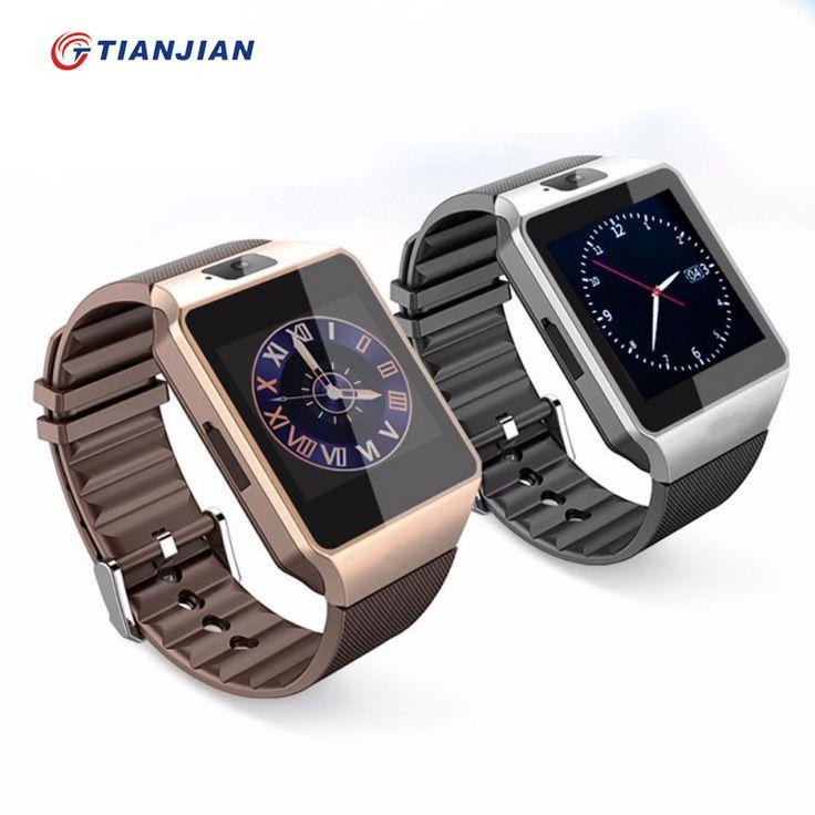 Bluetooth smart watch dz09 dengan kamera smartwatch pedometer kesehatan olahraga mp3 jam pria wanita hitam smart watch untuk android