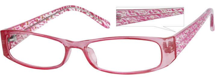 Order online, women pink full rim acetate/plastic rectangle eyeglass frames model #238919. Visit Zenni Optical today to browse our collection of glasses and sunglasses. $6.95
