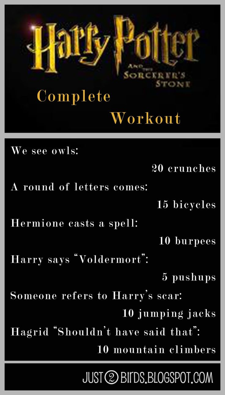 Harry Potter and the Sorcerer's Stone WORKOUT! Save this for later!