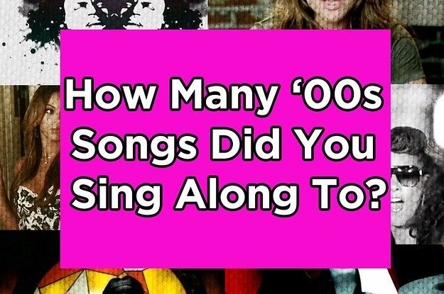 How Many Of These '00s Songs Did You Sing Along To? - fun little list of songs
