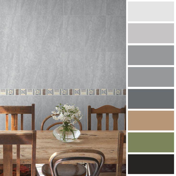 las tonalidades verdes y grises son perfectas para dar tranquilidad y vitalidad al espacio, puedes usarlas en la sala o la cocina.