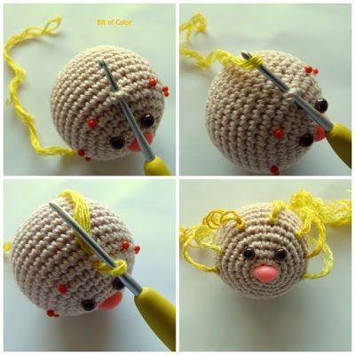 Hoe maak je krullend haar voor de amigurumi pop?