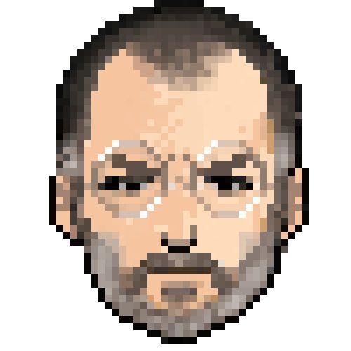 pixel portrait of jobs