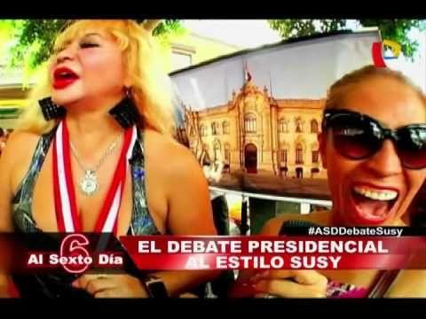 El debate en las calles: La fiesta electoral al estilo de Susy Díaz - YouTube