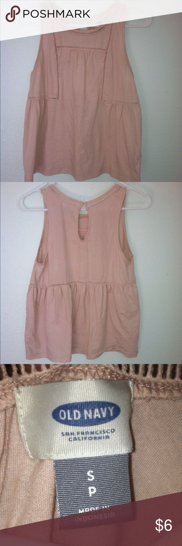 FINAL PRICE: Old Navy Babydoll Pink Peplum Top Old Navy Babydoll pink peplum style top. Size: small. In good condition! Old Navy Tops Tank Tops