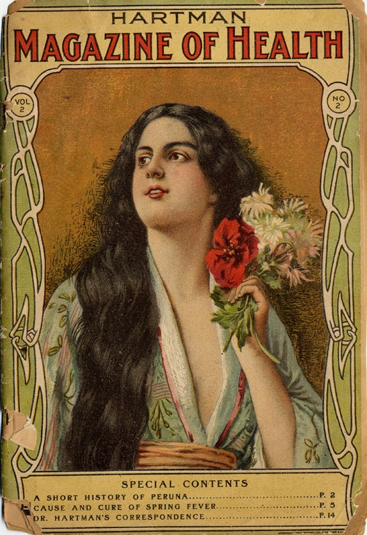 Something about the cover model seems decidedly Loose to me... you just know she's not wearing proper undergarments. Also - I want to see the article on Spring Fever! Hartman Magazine of Health [catalogue]; 1904.