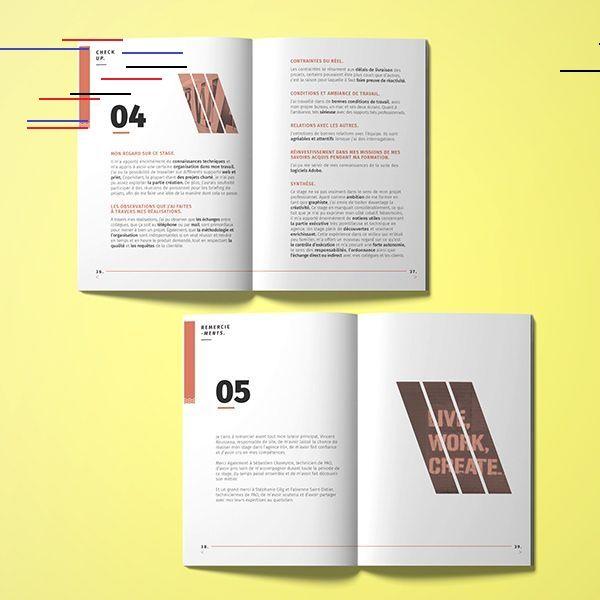 Roxane Dasi Rapport De Stage Roxane Dasi Rapport De Stage グラフィックデザイン レイアウト ポートフォリオ