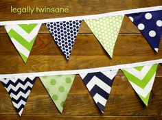 Banner Navy, Fabric Bunting, Bunting Banner Bedroom, Navy Blue And Green Nursery, Blue And Green Boy Nursery, Green And Navy Nursery, Blue Green Nursery, ...