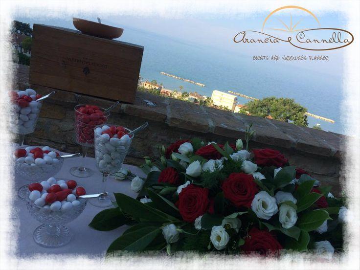 Panorama con sfondo sul mare per un matrimonio tedesco.