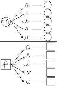 Resultado de imagen para hojas de aprestamiento para aprender a a escribir letra de carta