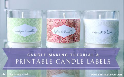 make your own scented soy candle and decorate it with your With create your own candle labels