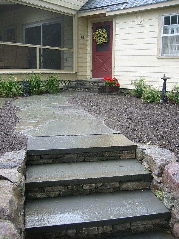 10 best steps images on pinterest stone cladding stone for Bluestone front porch